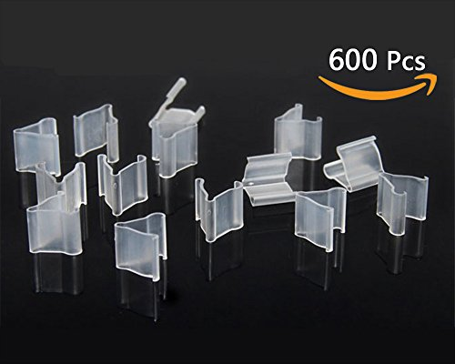 600 Clip (Zivisk 600 Pieces of Clear Plastic Small Balloon Clips Tie for Sealing - V Shape Balloon Seal Clip - Wedding, Christmas, Birthday, Party Decoration Supplies Balloon Accessories)