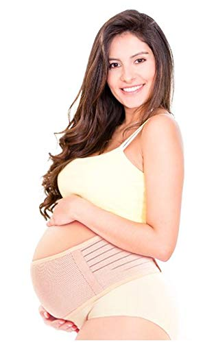 - Maternity Belt - Belly Band - by WANDCO - Comfortable & Breathable - Support for Lower Back - Velcro Adjustable Closure - Soft Cotton Belt Provides Gentle Compression - One Size + Storage Bag