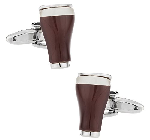 (Cuff-Daddy Stout Porter Beer Cufflinks with Presentation Box)