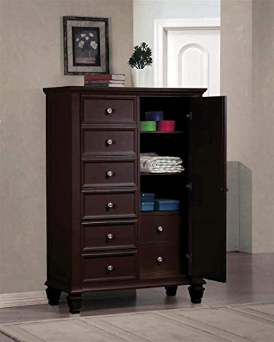Coaster CO- Sandy Beach 8 Gentleman's Chest of Drawers, Cappuccino