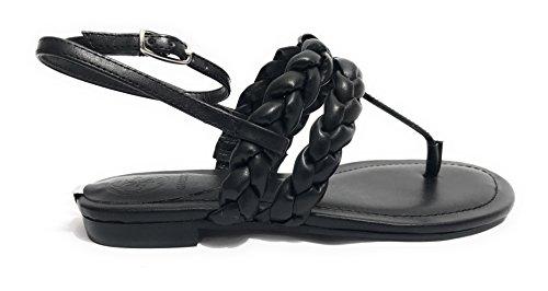 7b6d067ace8 Guess Chaussures Femme Sandale Flip Flop Mod Rosalyn Faux Cuir Noir Ds18gu46