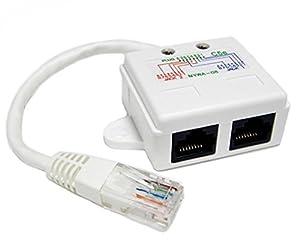 Ethernet Splitter for Voice Over IP, 10/100 BaseT 1P/2J 08--2 Pieces
