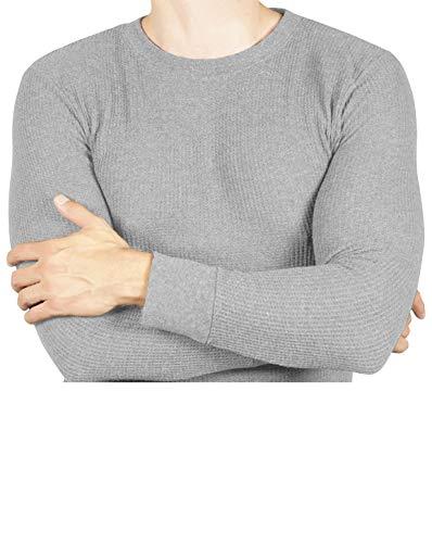 Joe Boxer Thermal Crew Tops - Base Layer Shirt - Long Sleeve Undershirt (Heather Grey, 2X)