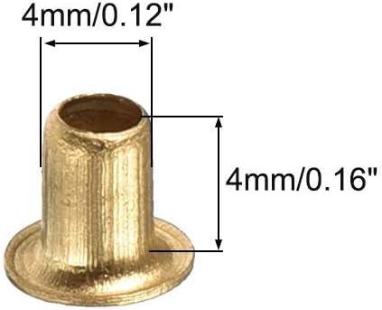 3 mm x 4 mm Agujero pasante Cobre Remaches huecos Ojales Placa de circuito de doble cara PCB 200 Uds DealMux Remache hueco