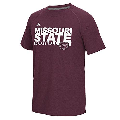 Missouri State Football (NCAA Missouri State Bears Men's Sideline Grind Football Climalite Ultimate Short Sleeve Tee, Maroon,)
