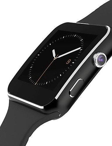 Reloj X6 inteligente para smartphone Android reloj Tracker podómetro reloj inteligente apagado, negro