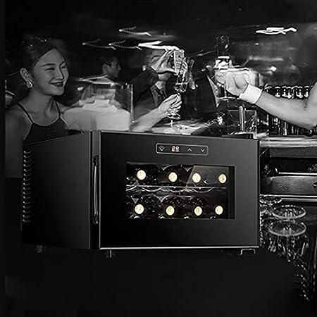 Hmvlw Vinoteca refrigerada Pequeño refrigerador refrigerado refrigerador electrónico Temperatura constante refrigerador Temperatura constante Temperatura del vino Refrigerador de vino Hogar