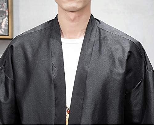 HeiKiカーディガン メンズ 和式パーカー 開襟シャツ 七分袖 薄手 ゆったり はんてん 花火大会