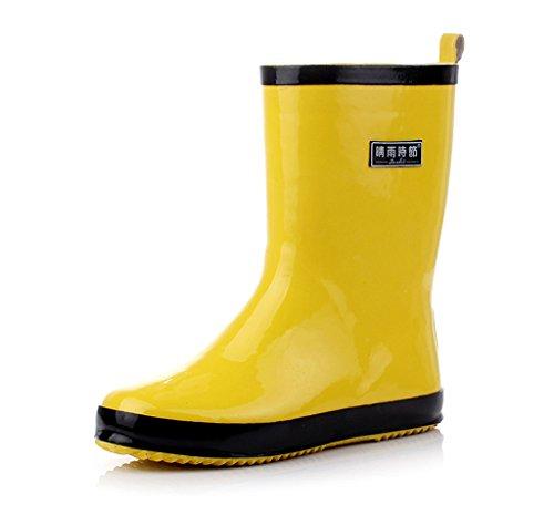 Estudiantes Impermeables Moda De Yellow Lluvia Botas Mujeres Antideslizantes Zapatos Goma Para UP6fq1