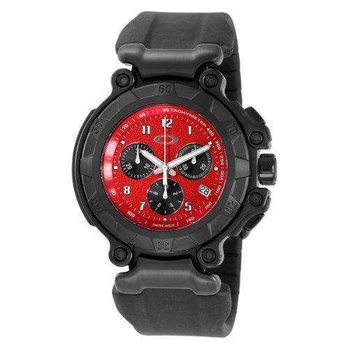 Oakley Men's 10-275 Crankcase Stealth Unobtainium Limited Edition Chronograph Rubber Watch