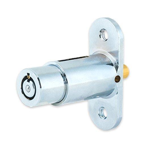 FJM Security 2612L-KA Push Lock with Chrome Finish, Keyed Alike Photo #4