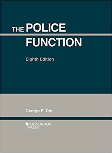 The Police Function (Coursebook)