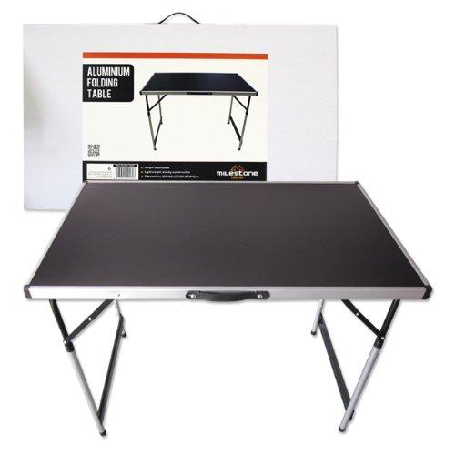 53 opinioni per Milestone- Tavolo pieghevole da campeggio in alluminio, colore nero