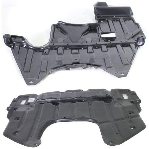 Engine Splash Shield Compatible with LEXUS IS300 2001-2005 Set of 2 Under Cover Front and Rear Assembly