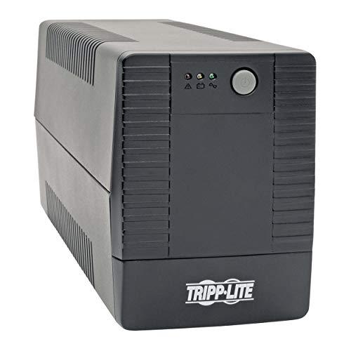Tripp Lite 600VA UPS Battery Backup, Desktop UPS, 6 Outlets, USB, 360W, 120V, 50/60Hz, 2 Year Warranty & $100, 000 Insurance (BC600TU)