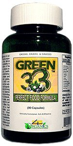 GREEN 33 Vegetable Greens Daily Super Green Formula/ Complete Natural / Organic / Bottle (90) ()