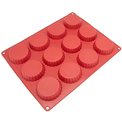 Freshware CB-101RD 30-Cavity Silicone Mold for Making Homemade Chocolate Peanut Butter Cup