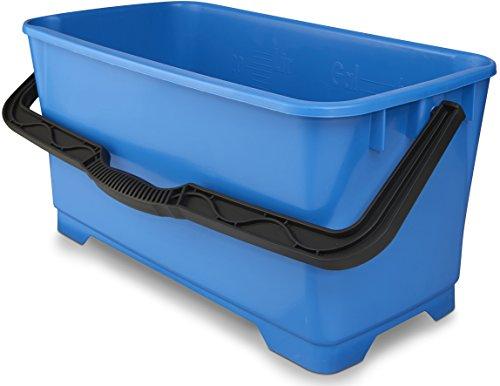 Large 6 gallon extra long bucket to fit squeegees which is idea for cleaning windows.