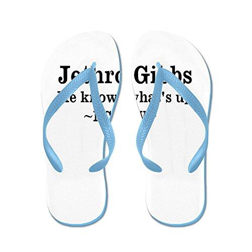 Cafepress Gibbs-ncistv - Flip Flops, Roliga Rem Sandaler, Strand Sandaler Caribbean Blue