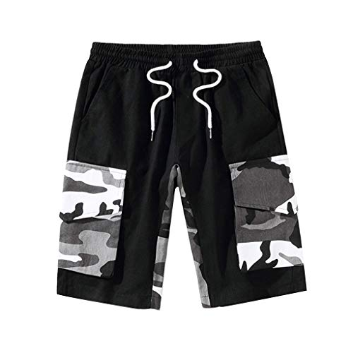 Summer Leisure Camouflage Overalls Men's Fashion Multi-Pocket Trousers ()