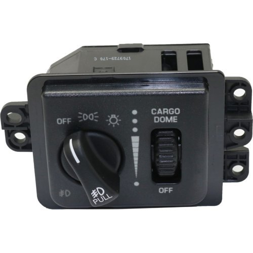 (Headlight Switch compatible with Ram Full Size Pickup 03-05 4 Switch Positions w/Fog)