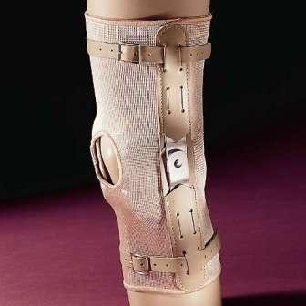 (ELASTIC HINGED KNEE BRACE SUPPORT OPEN PATELLA CONDYLE PADS 869 (XS))