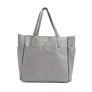 Freshly Picked - Classic Carryall Bag - Large Internal Storage 10 Pockets Wipeable Vegan Leather Purse Diaper Bag