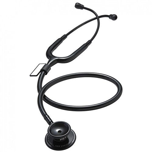 MDF Instruments MD One Stainless Steel Premium Dual Head Stethoscope - Free-Parts-for-Life & Lifetime Warranty (MDF777-BO) - All Black
