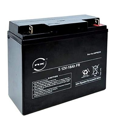NX - Batería Plomo AGM 18-12 General Purpose - Estacionaria FR 12V ...
