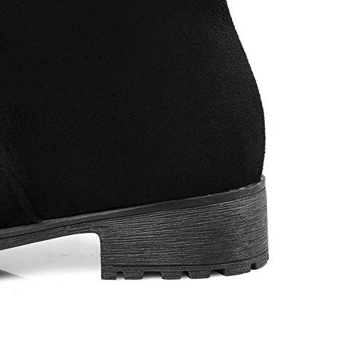 Compensées Sandales Noir femme AdeeSu Sxc02404 BPAqa
