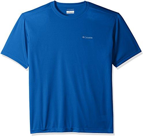Columbia Men's Meeker Peak Short-Sleeve Crew T-Shirt, Stormy Blue, Medium