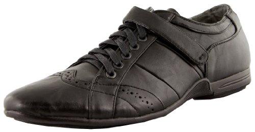 Schnuerschuhe Halbschuhe Herrenschuhe Herren Lederimitat Schwarz EU Farbe Sneaker 45 vqPHwxHO