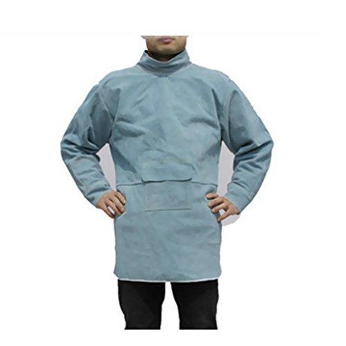 Dolity 작업복 용접 용 앞치마 보호용 덮개 화상을 방지 기준 4 크기 2 색깔 고품질-85cm 파랑 / Dolity Work Clothes Welding Apron Protective Cover Burn Prevention All 4 Sizes 2 Colors High Quality - 85cm Blue
