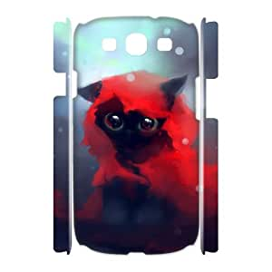 WJHSSB Lovely Cat Customized Hard 3D Case For Samsung Galaxy S3 I9300
