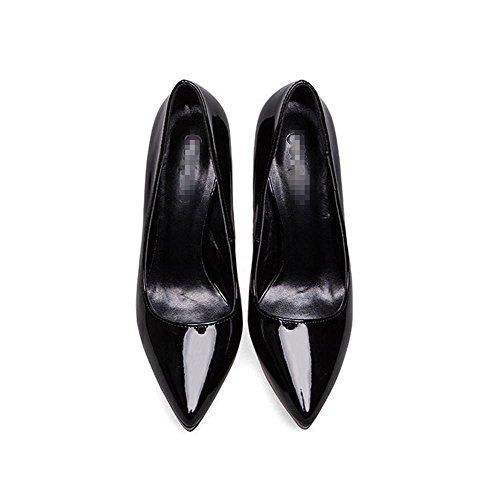 Sandalias La De Mujer Cerrado De Impermeable De La black Dedo Del De Plataforma Botas Party Nightclub Casual Altos Etapa Boda Zapatos De Pie Cuero Tacones gUHx5z4wwq