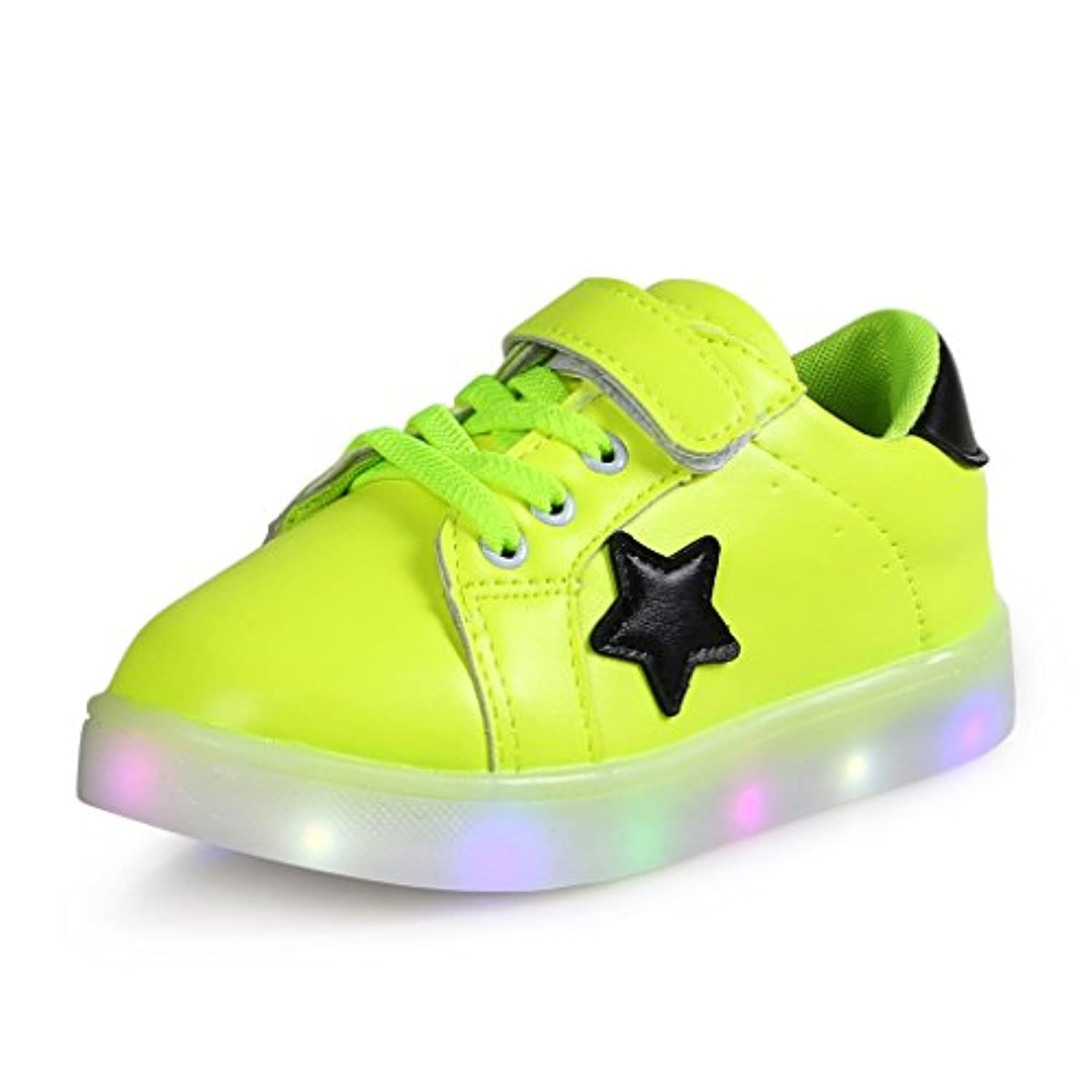 SAGUARO® Kids Girls Boys LED Luminous Shoes Light Up Shoes Sneakers Trainers Flashing Shoes Birthday Halloween Christmas Gift