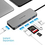 LENTION USB C Hub with 4K HDMI, 3 USB 3.0, SD/Micro
