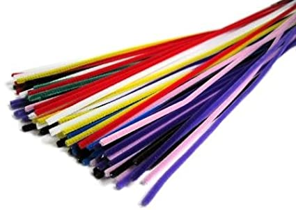 Budila Grosspackung Chenilledraht farbig sortiert, 100 St�ck 100 St�ck BUDILA®-Kreativideen