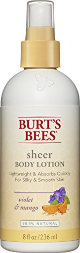Burt's Bees Sheer Body Lotion - Violet and Mango - 8 oz (Sheer Body Lotion)