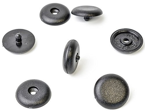 Clip/fermo di sicurezza universali per cintura, 2 pezzi, nero MYBA-S
