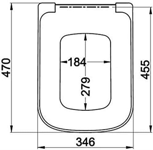 Yxsd 丸みを帯びたスクエアトイレのための調節可能なヒンジ尿素 - ホルムアルデヒド樹脂抗菌便座付きトイレシートトイレのふた (Size : Roundedsquare)