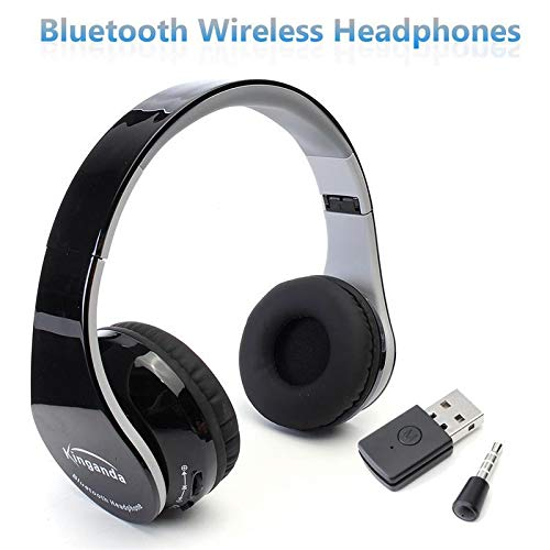 (Portable 3.5mm Jack Wireless Bluetooth Foldable Stereo Headphone Gaming Headset for Sony PS4 PC Game Headphone Earphone)