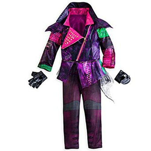 [Disney Store Deluxe Descendants Mal Costume For Girls Size L XL 11 -12] (Maleficent Halloween Costumes For Girl)