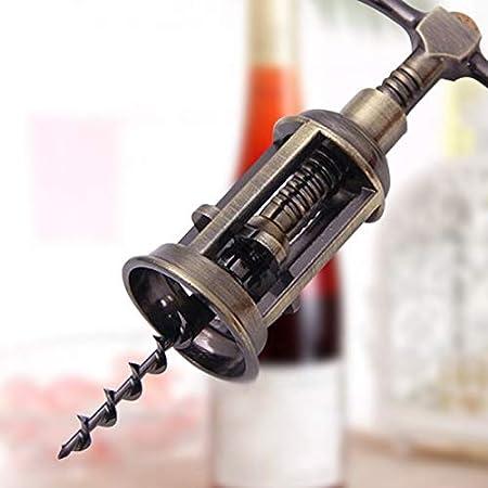 LINMAN Sacacorchos 2 Pack abrelatas de Vino sacacorchos, Vendimia Todo en uno Botella de Cerveza de Vino Tinto corchos, diseño de Mano, Tornillo Plano Más Agarre sacacorchos