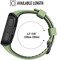 ANCOOL Compatible with Forerunner 35 Bands Soft Silicone Watch Band Sport Strap Replacement for Forerunner 35 Smartwatch (Olive Green)