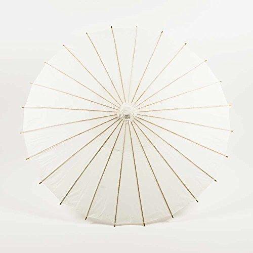 Quasimoon PaperLanternStore.com 32 Inch White Paper Parasol Umbrella -
