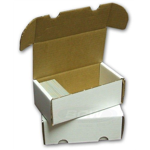 Corrugated Box Strength - BCW 400-Count Storage Box for Trading Cards | 200 lb. Test Strength | (4-Count)