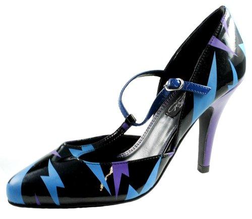 Iron Fist Girl Footwear Lady Boltthrower T-Bar Heel Black IF8325 66OLnAS