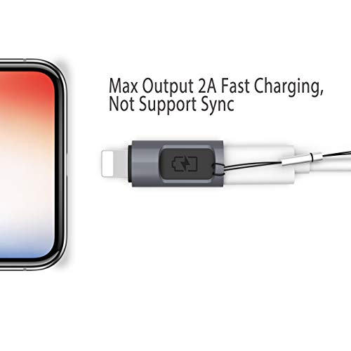 Stouchi iOS to USB C Adapter Type C (Female) to iOS (Male) Adapter USB C Adapter Compatible for iPad, iPhone X/ 8/7 Plus /6 Plus/5/5s Fast Charging Max Output 5V 2.4A by USB C Power Adapter