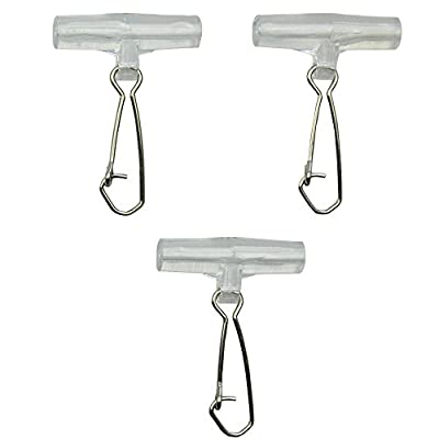 Shaddock Fishing 15-45pcs Sturdy Strong Sinker Slide with High-strength Stainless Steel Snaps for Braid Line
